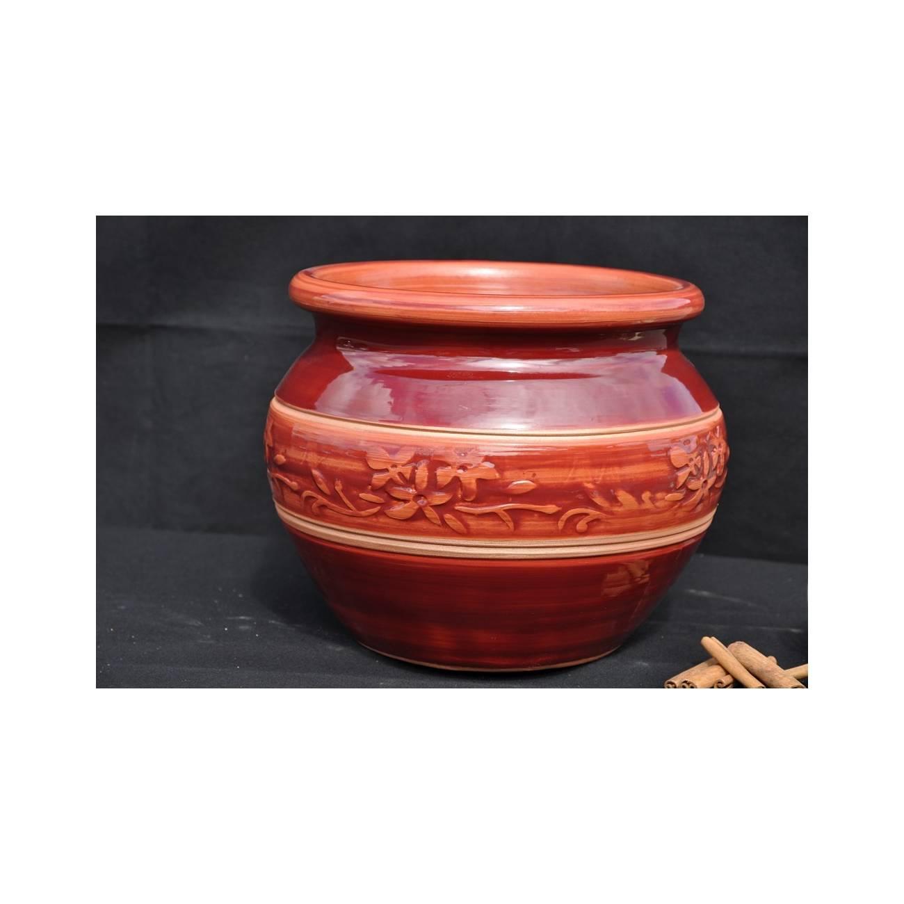 boule vague grenadine poterie rouge les poteries d 39 albi. Black Bedroom Furniture Sets. Home Design Ideas
