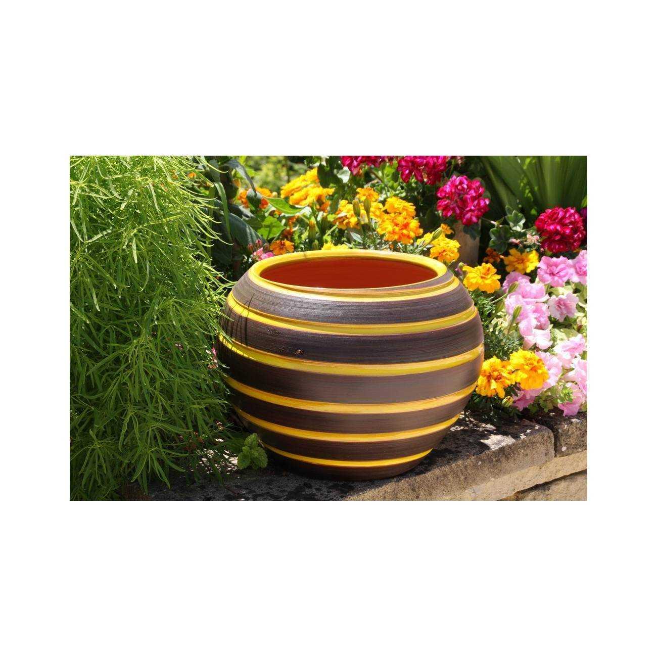 les maldives terre de soleil vase jaune les poteries d 39 albi. Black Bedroom Furniture Sets. Home Design Ideas
