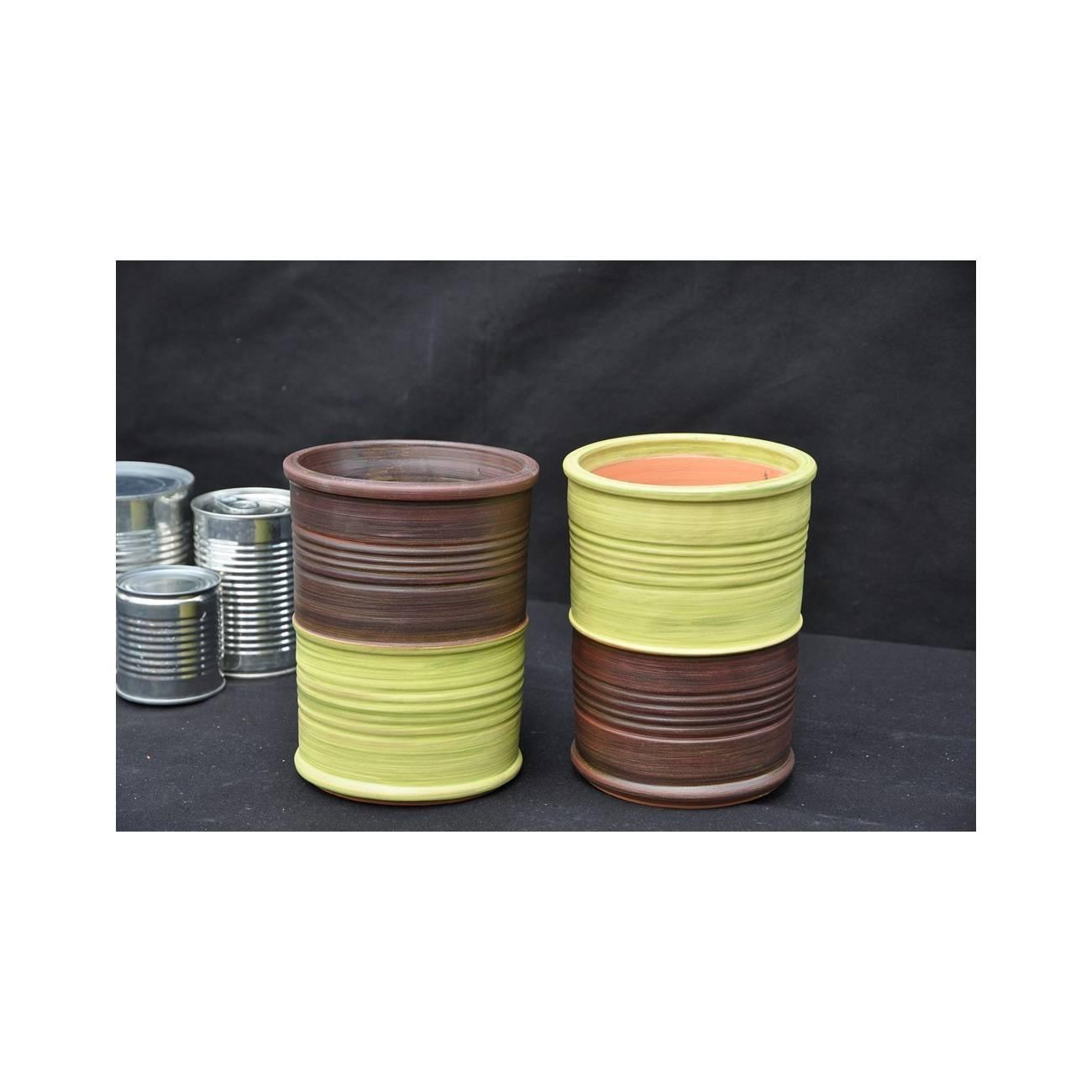 conserve terre d 39 amazonie vase vert les poteries d 39 albi. Black Bedroom Furniture Sets. Home Design Ideas