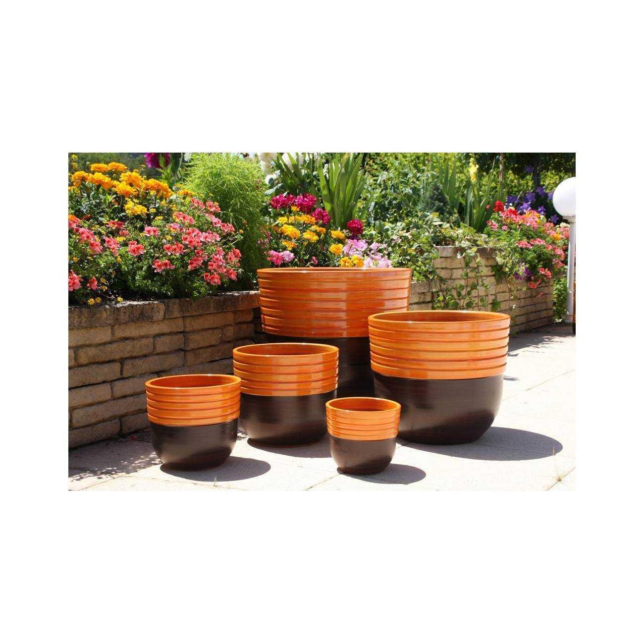 massaya terre de feu vase orange les poteries d 39 albi. Black Bedroom Furniture Sets. Home Design Ideas