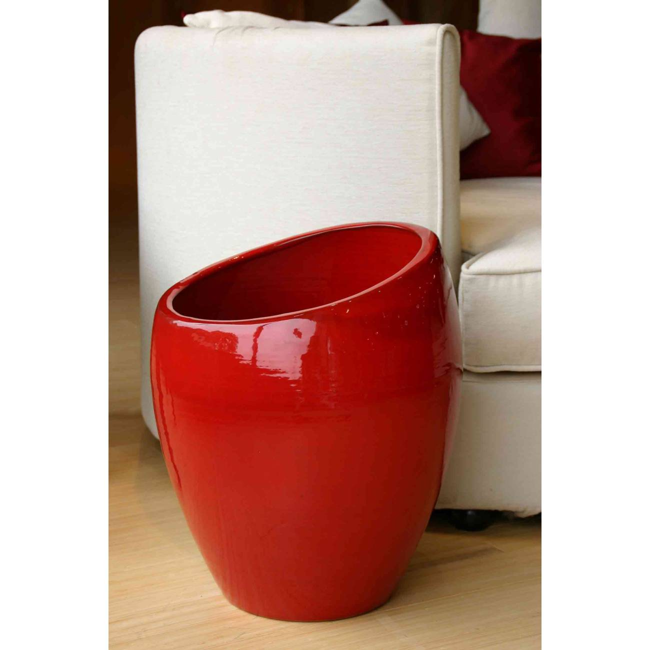 Pot design et objet d co orion collection coquelicot - Objet deco design rouge ...
