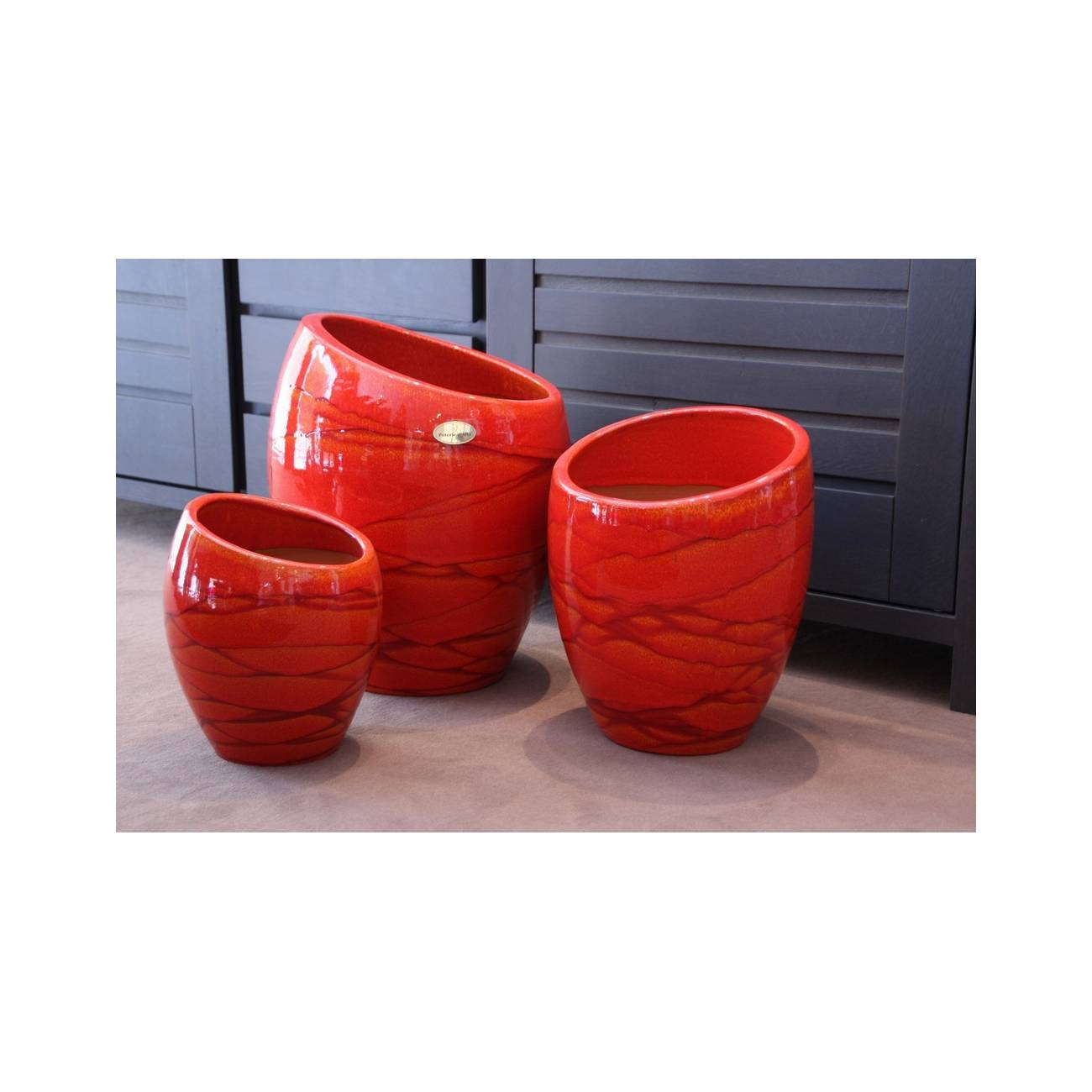 Pot design et objet d co orion collection soleil couchant - Objet deco design rouge ...