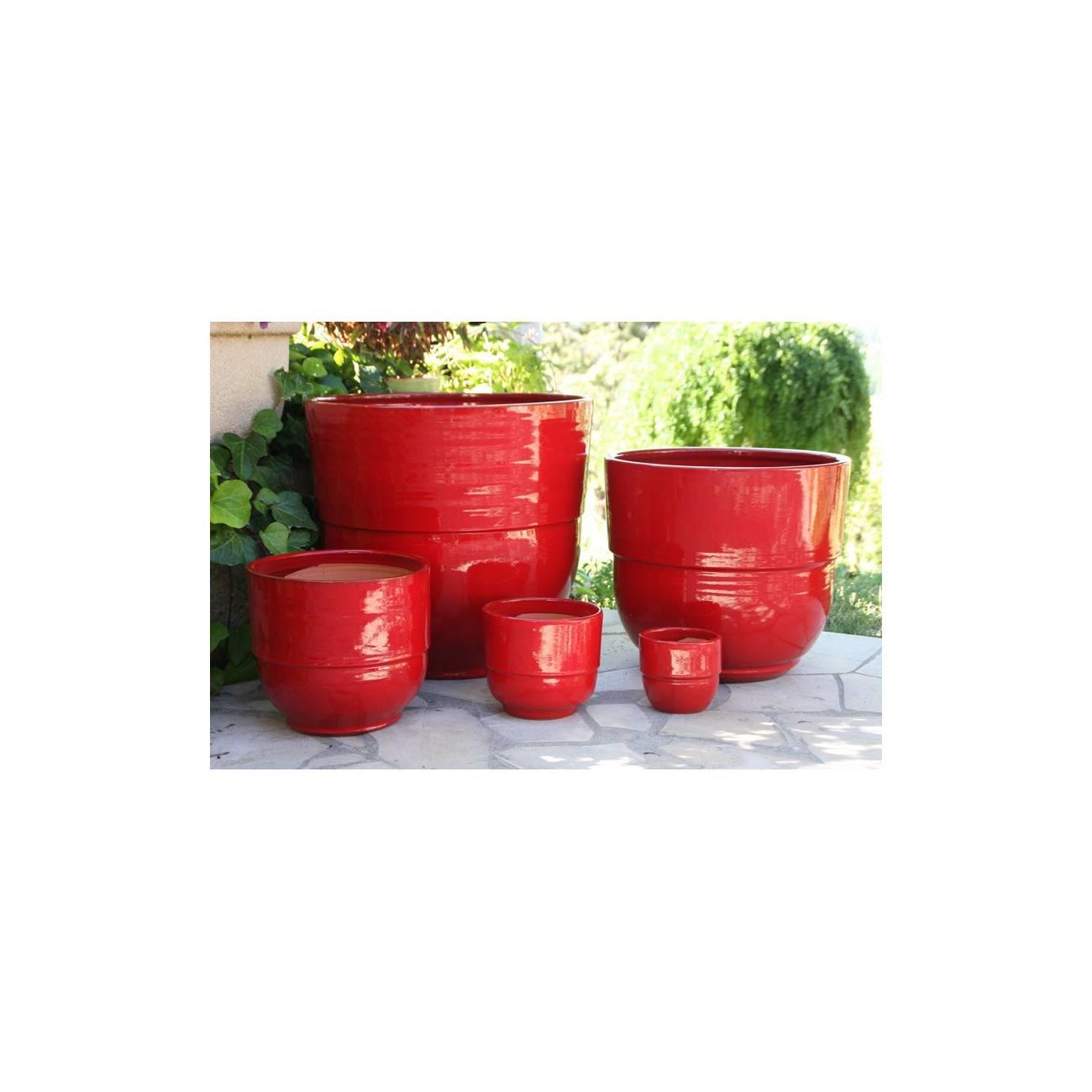 pot et vase droit vase rebord collection coquelicot. Black Bedroom Furniture Sets. Home Design Ideas